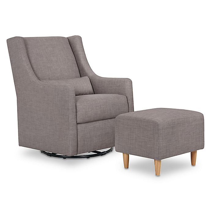 Alternate image 1 for Babyletto Toco Swivel Glider and Ottoman in Grey