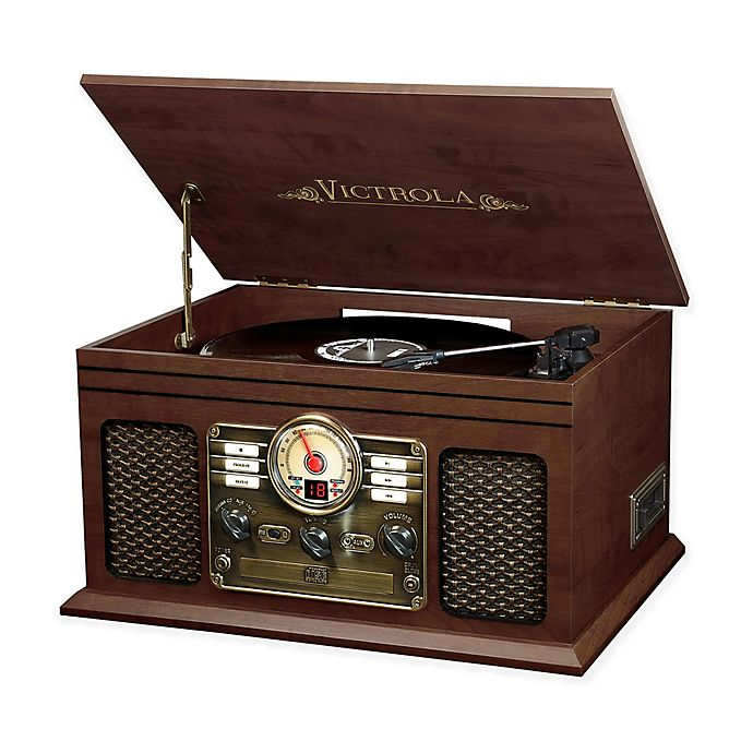 Alternate image 1 for Victrola™ Classic 6-in-1 Turntable with Bluetooth® Speakers in Espresso