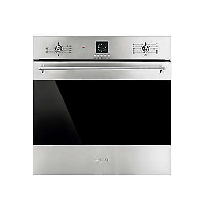 SMEG Classic 24-Inch Electric Wall Oven in Stainless Steel