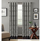 Colordrift Mandy 84-Inch Grommet Top Room-Darkening Window Curtain Panel in Charcoal