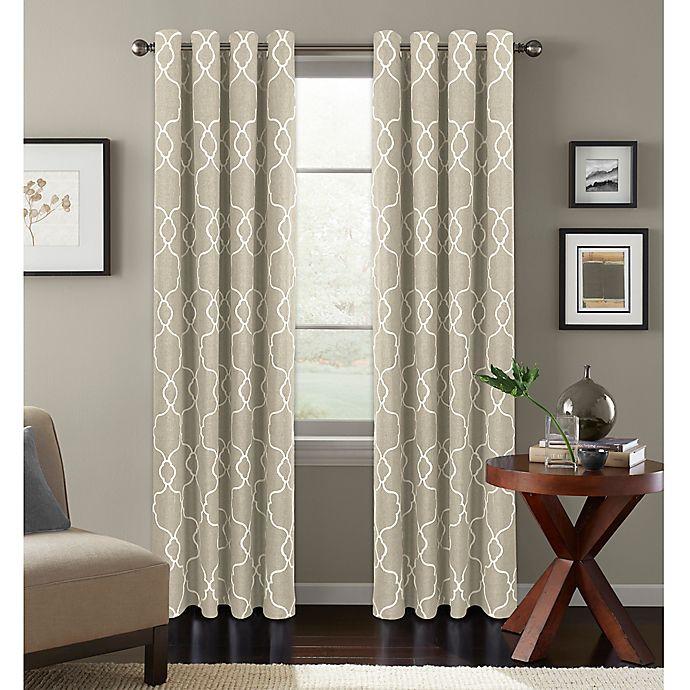 Alternate image 1 for Colordrift Mandy Grommet Top Room-Darkening Window Curtain Panel