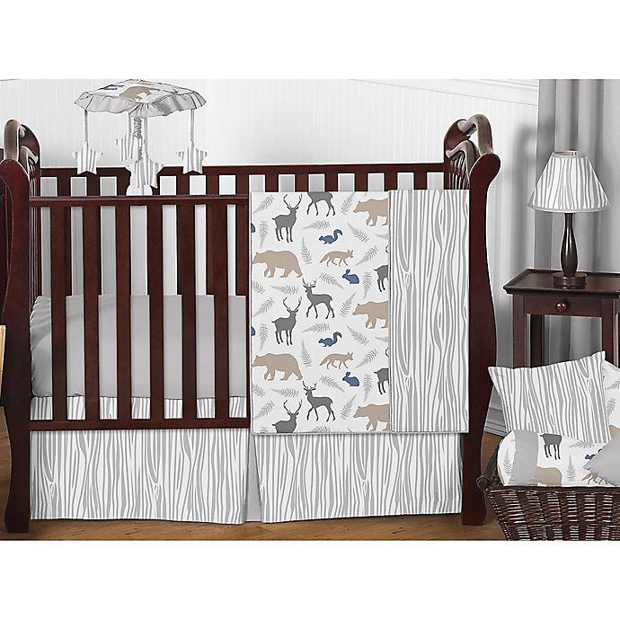 Alternate image 1 for Sweet Jojo Designs Woodland Animals Crib Bedding Collection