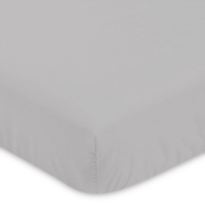 Alternate image 1 for Sweet Jojo Designs Woodland Animals Fitted Crib Sheet in Grey