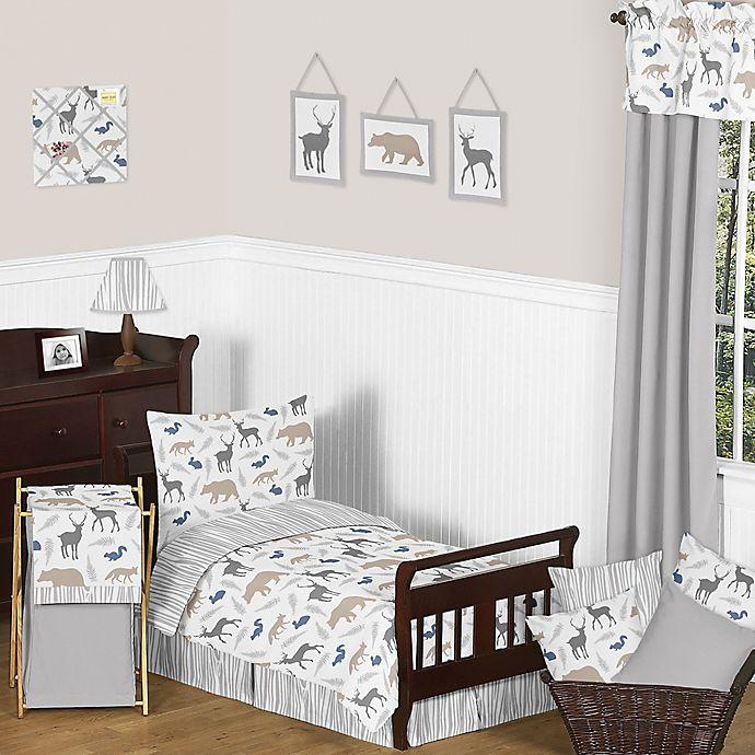 Alternate image 1 for Sweet Jojo Designs Woodland Animals Toddler Bedding Collection