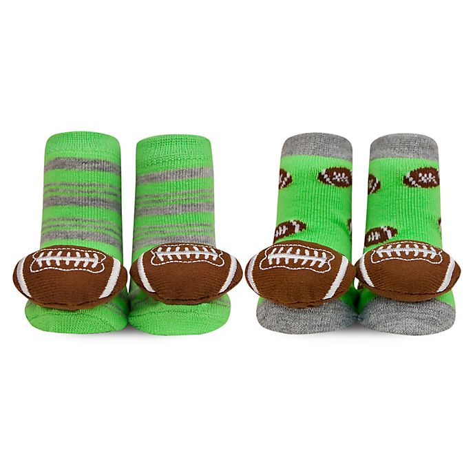 Magnificent Waddle 2 Pack Football Rattle Socks In Green Gmtry Best Dining Table And Chair Ideas Images Gmtryco