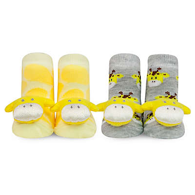 Waddle® 2-Pack Giraffe Rattle Socks in Yellow