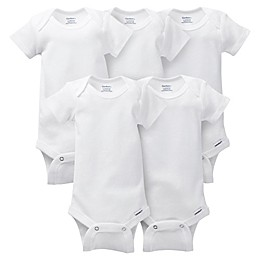 Gerber ONESIES® Brand Preemie 5-Pack Short Sleeve Bodysuits in White