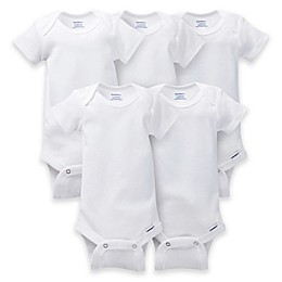 Gerber ONESIES® Brand 5-Pack Short Sleeve Bodysuits in White