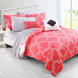 VCNY Home Inspire Me Gia Reversible Comforter Set in Coral
