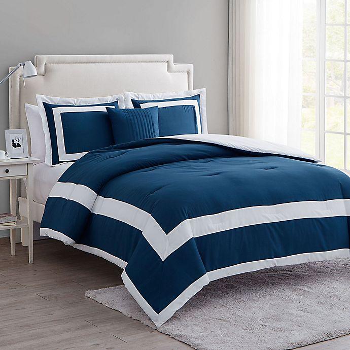 Alternate image 1 for VCNY Home Avondale 4-Piece King Comforter Set in Blue