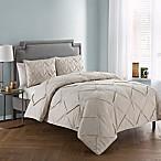 VCNY Home Julie 3-Piece Queen Comforter Set in Beige