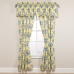 Laura Ashley® Linley Window Curtain Panels and Valance