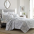 Laura Ashley® Venetia King Quilt Set in Grey
