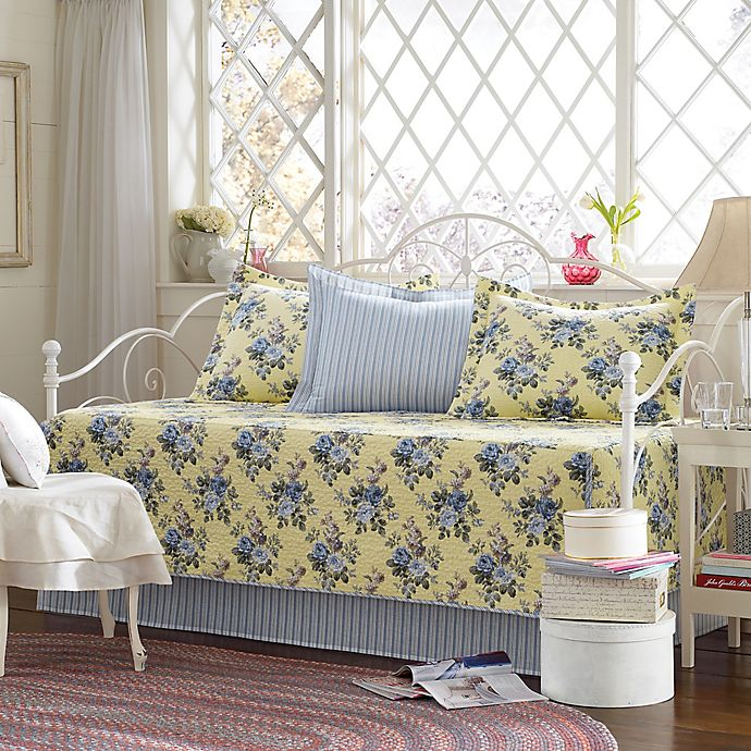 Alternate image 1 for Laura Ashley® Linley Daybed Bedding Set