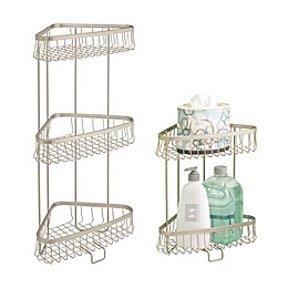 iDesign® York Lyra Corner Storage Shelves