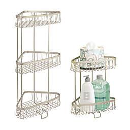 iDesign® York Lyra Corner Storage Shelves