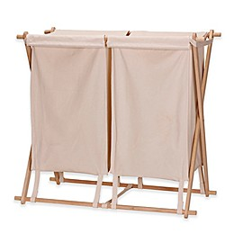 Household Essentials® X-Frame Collapsible Double Laundry Hamper
