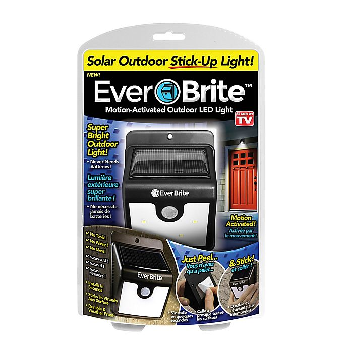 Alternate image 1 for Everbrite™ Motion Activated Outdoor LED Light in Black