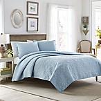 Laura Ashley® Felicity King Quilt Set in Light Blue