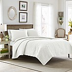 Laura Ashley® Felicity Full/Queen Quilt Set in White