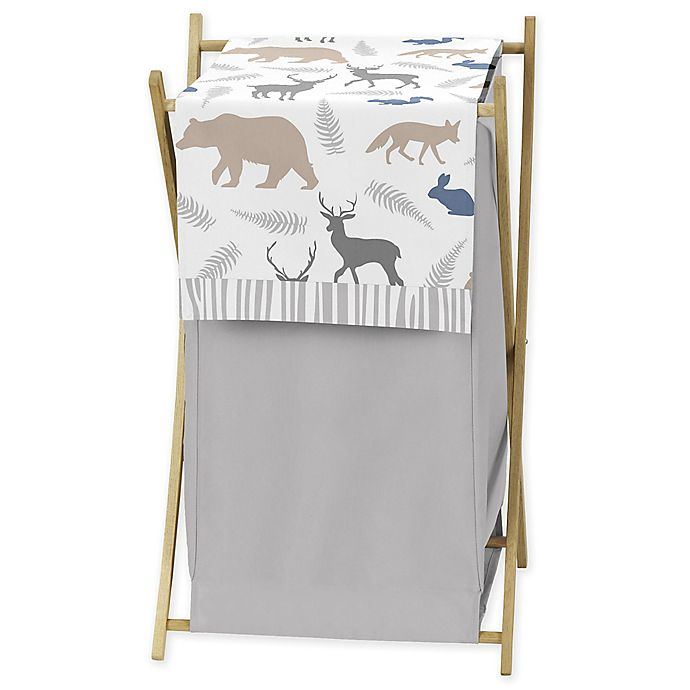 Alternate image 1 for Sweet Jojo Designs® Woodland Animals Laundry Hamper