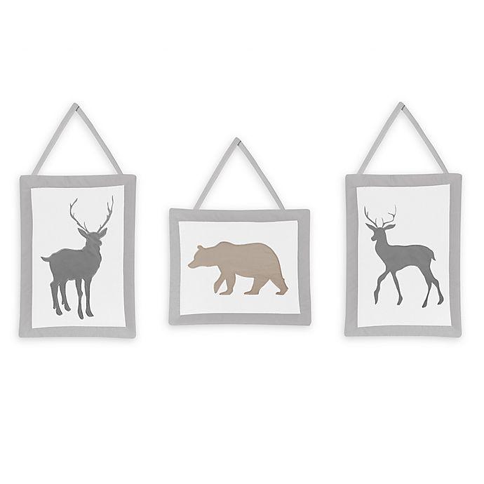 Alternate image 1 for Sweet Jojo Designs® Woodland Animals Wall Hangings (Set of 3)