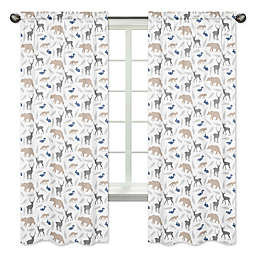 Sweet Jojo Designs® Woodland Animals 84-Inch Rod Pocket Window Curtain Panels (Set of 2)