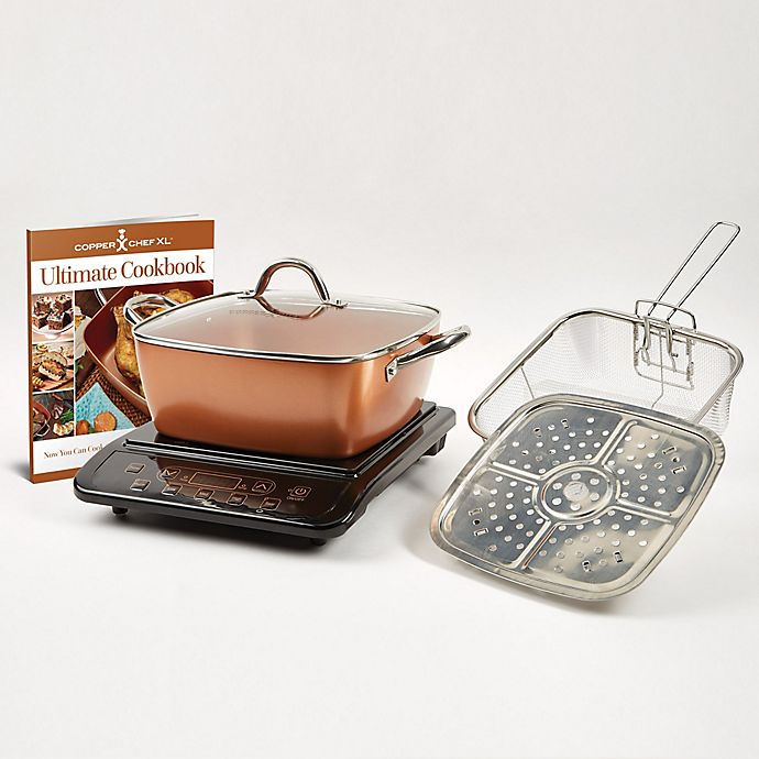Alternate image 1 for Copper Chef™ 6-Piece Induction Cooktop with 11\