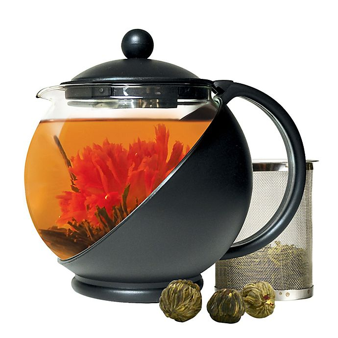 Alternate image 1 for Primula® 40 oz. Half Moon Glass Teapot
