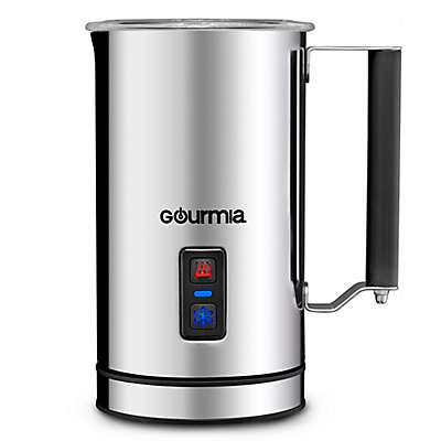 Gourmia 8.5 oz. Compact Cordless Electric Milk Frother/Heater in Stainless Steel