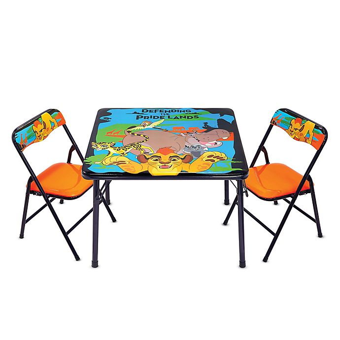 disney lion guard 3 piece activity table and chairs set bed bath