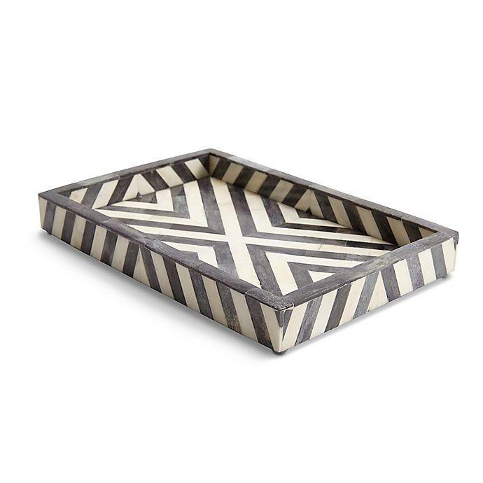 Alternate image 1 for Kassatex Bristol Towel Vanity Tray in Grey