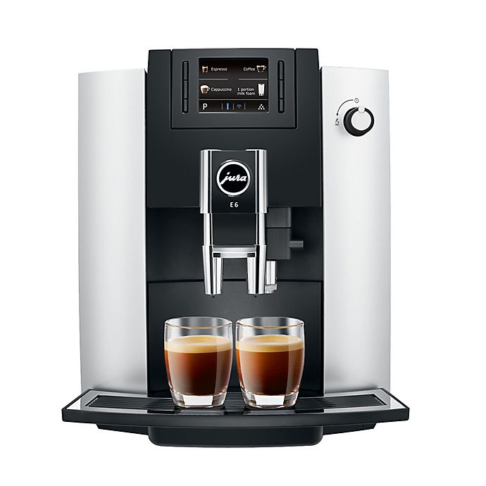 Alternate image 1 for Jura® E6 Fully Automatic Coffee Machine in Platinum