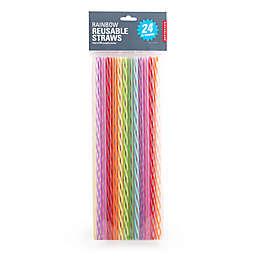 Kikkerland® 24-Pack 11-Inch Reusable Straws