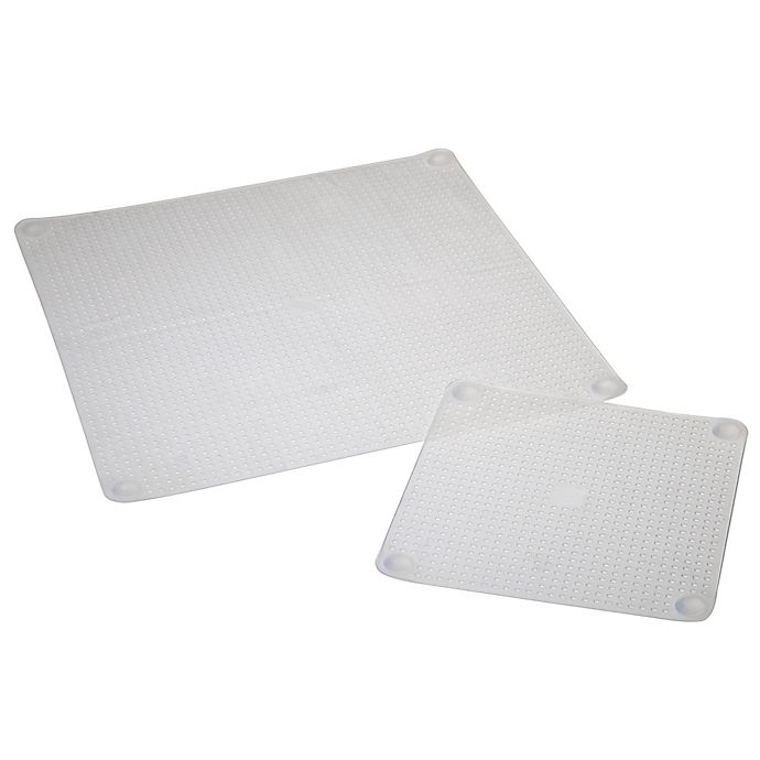 Alternate image 1 for Norpro® Sili Stretch Silicone 2-Piece Bowl Covers in Clear