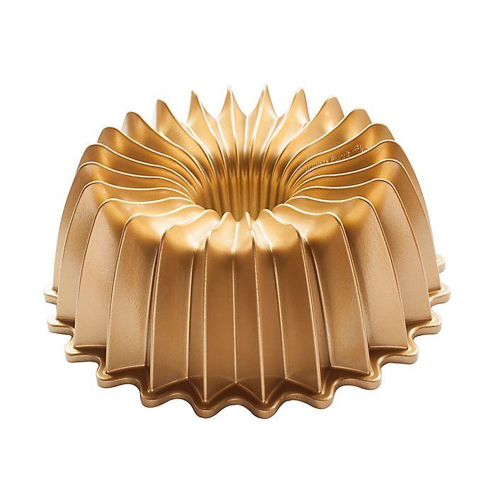 Nordic Ware 174 Premier Gold Brilliant Bundt Pan In Gold
