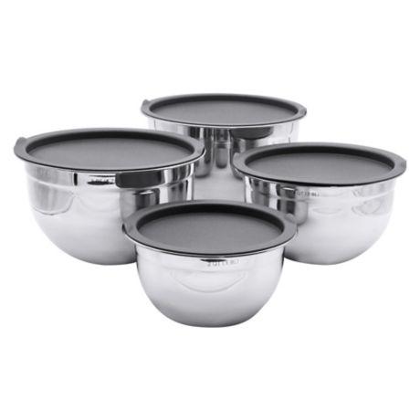 Artisanal Kitchen Supply 4 Piece Stainless Steel Mixing Bowl Set Bed Bath Beyond