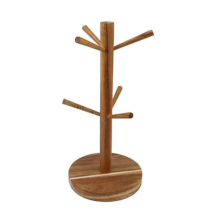 Alternate image 1 for Thirstystone® Acacia Wood Mug Tree