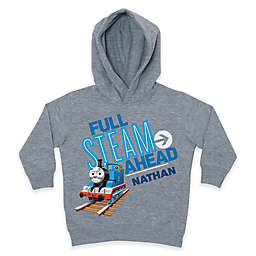 """Thomas the Tank Engine """"Full Steam Ahead"""" Pullover Hoodie in Grey"""