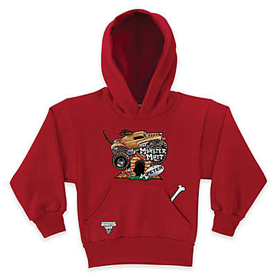 Monster Jam® Monster Mutt Pullover Hoodie in Red