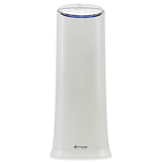 Alternate image 1 for PureGuardian® 100-Hour Ultrasonic Cool Mist Tower Humidifier in White