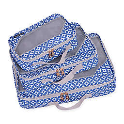 Jenni Chan Aria Stars 3-Piece Packing Cube Set in Blue