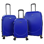 Travelers Club® Barnet 3-Piece Dual-Wheeled Expandable Spinner Suitcase Set in Cobalt Blue
