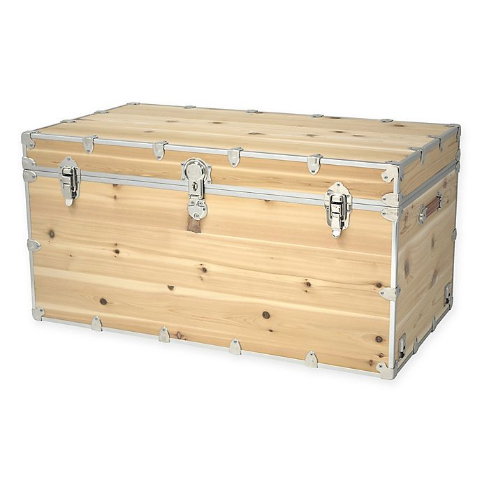 Alternate image 1 for Rhino Trunk and Case™ Knotty Cedar Trunk