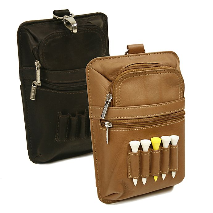 Alternate image 1 for Piel® Leather All-In-One Golf Pouch