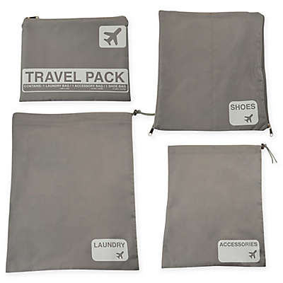 Latitude 40°N™ Jet Set 4-Piece Travel Laundry Bag Set
