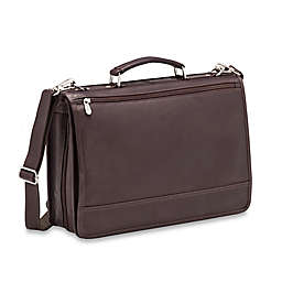 Piel® Leather 2-Section Expandable Laptop Case in Chocolate