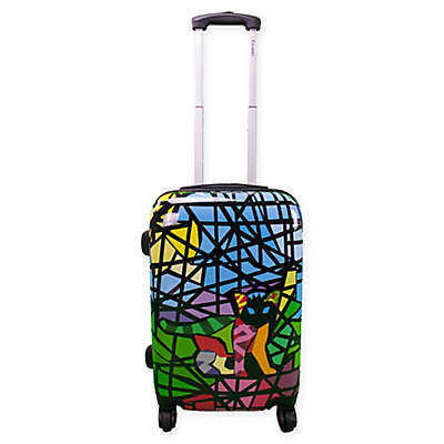 Chariot Glass Hardside 20-Inch Carry On Spinner