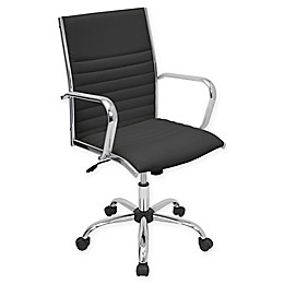 LumiSource Master Height-Adjustable Office Chair in Black