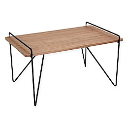 LumiSource Loft Mid-Century Modern Coffee Table in Black